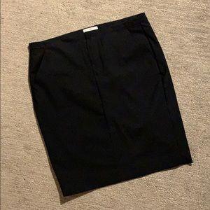 Pinstripe black pencil skirt